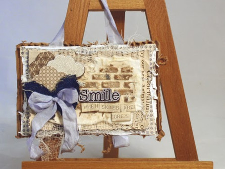 """""""Smile"""" Wallhanging with Tutorial"""