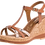Thumbnail: Tamaris - 28347 - Tan Leather Wedge With Snake Print Detail