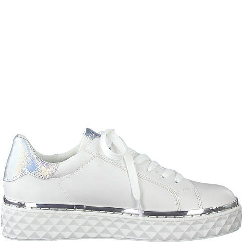 Marco Tozzi - 23705 - White Lace Up Trainers with Chunky Textured Sole