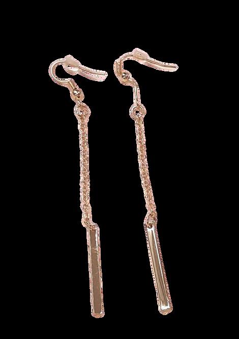 E51266 - Gold Dangle Earrings