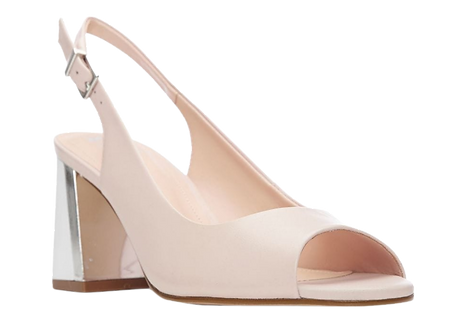 Moda in Pelle - Loelina - Peep-Toe Slingback Sandal with Contrast Block Heel