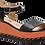 Thumbnail: Betsy  - 907024 - Black and Orange Wedge with Orange Stitch Detail