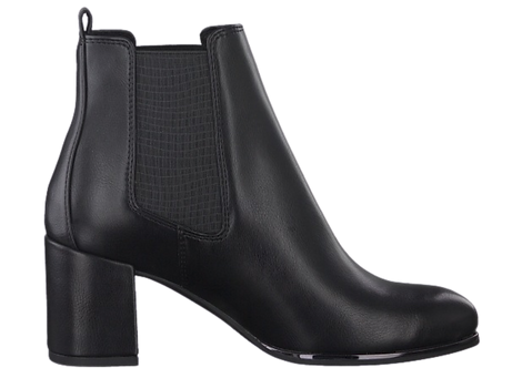 Marco Tozzi - 25346 - Black Ankle Boot with Elasticated Panels