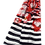 Thumbnail: 558 - Poppy and Stripe Printed Scarf