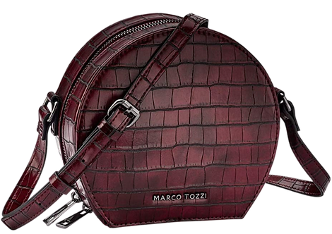 Marco Tozzi - 61025 - Deep Red, Round, Croc, Crossbody Bag