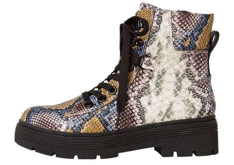 Marco Tozzi - 25214 - Snakeprint Lace Up Boot