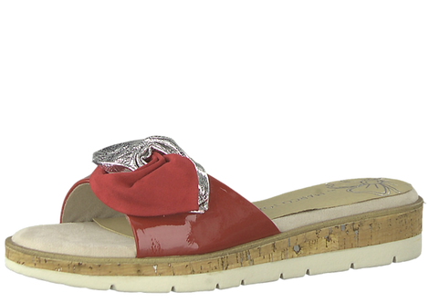 Marco Tozzi - 27120 - Red and Silver Mules