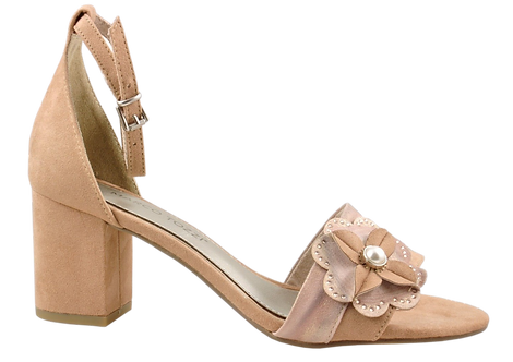 Marco Tozzi - 28306 - Block Heeled Sandal with Flower Detail