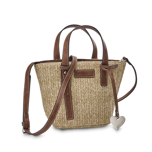 Marco Tozzi - 61009 - Woven Bag with Love Heart Charm