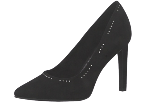 Marco Tozzi - 22432 - Black Court Shoe with Stud Detail