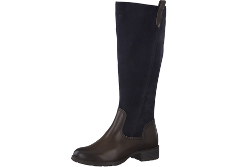 Marco Tozzi - 25504 - Navy Leather Knee Boot