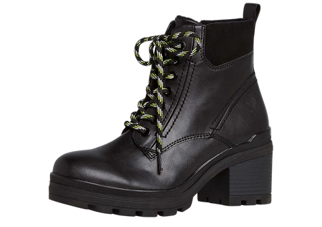 Marco Tozzi - 25778 - Fully Recycled, Lace Up, Black Boots