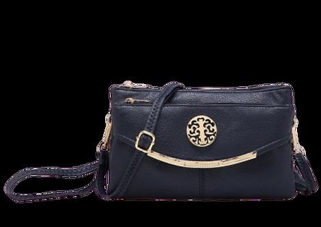 Z-1942 - Small Clutch / Crossbody Bag in Dark Blue