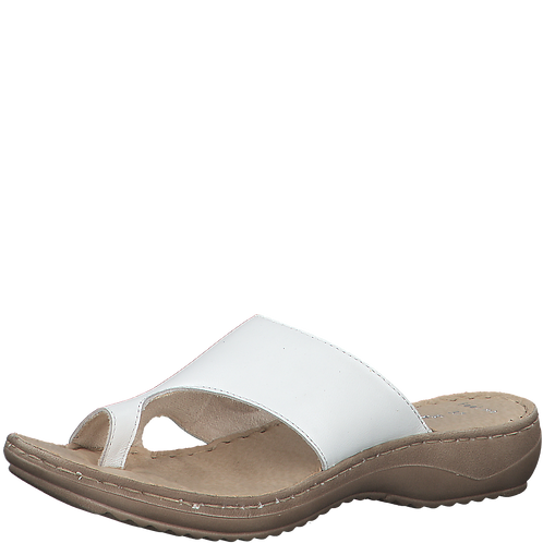 Marco Tozzi - 27900 - White, Leather Sandal with Toe Insert