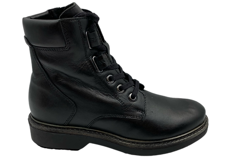 Marco Tozzi - 25228 - Black, Leather, Lace Up Boots
