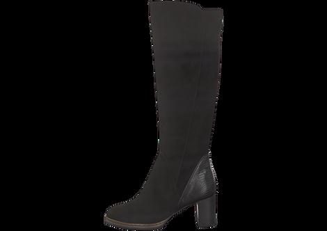 Marco Tozzi - 25522 - Heeled Knee Boot with Contrast Heel Panel
