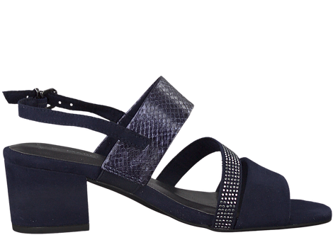 Marco Tozzi - 28310 - Navy, Strappy Sandal with Block Heel