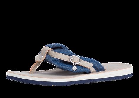 Tamaris -  27109 - Toe Post Sandal with Denim Look Strap