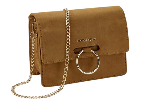 Marco Tozzi - 61005 - Yellow, Hoop, Crossbody Bag with Chain Strap
