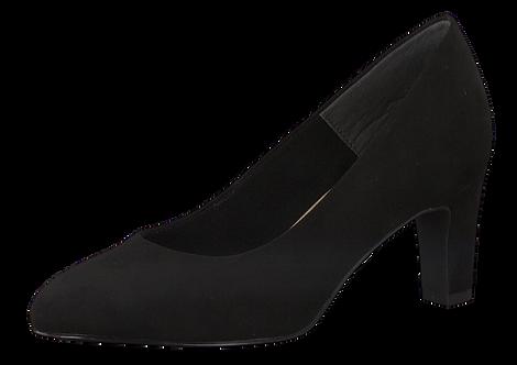 Tamaris - 22418 - Black Pointed Court Shoe