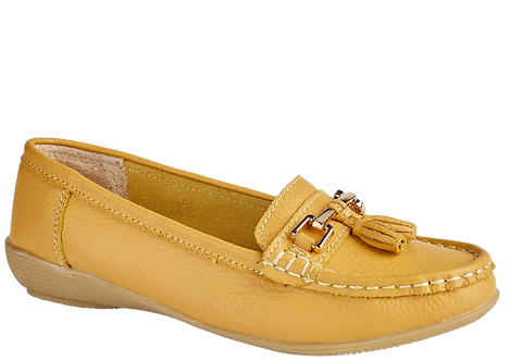 Nautical Mustard Leather Boat Shoe