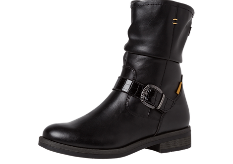 Tamaris - 25089 - Black Ankle Boot With Buckle Detail