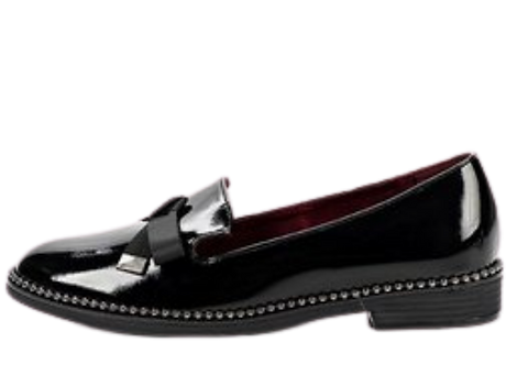 Betsy - 908076 - Black, Patent, Bow Loafer