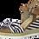 Thumbnail: Marco Tozzi - 28706 - Stripe Bow Wedge Sandal