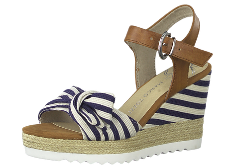Marco Tozzi - 28706 - Stripe Bow Wedge Sandal
