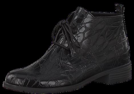Marco Tozzi - 25118 - Black Croc. Lace Up Ankle Boot