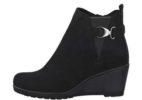Marco Tozzi - 25042 - Black Wedge Ankle Boot With Ankle Strap