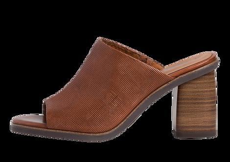 Tamaris - 27201 - Tan, Leather, Block Heeled Mule