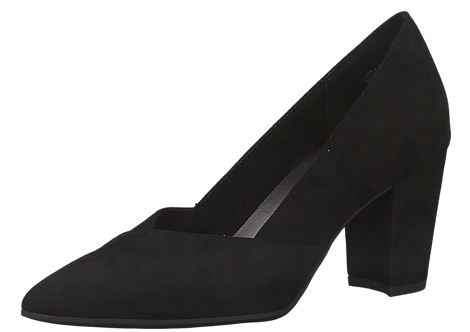 Marco Tozzi - 22438 - Black Court Shoe With Pointed Toe