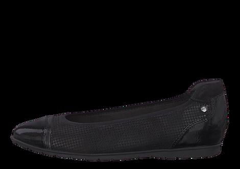 Tamaris - 22103 - Black Ballet Shoe