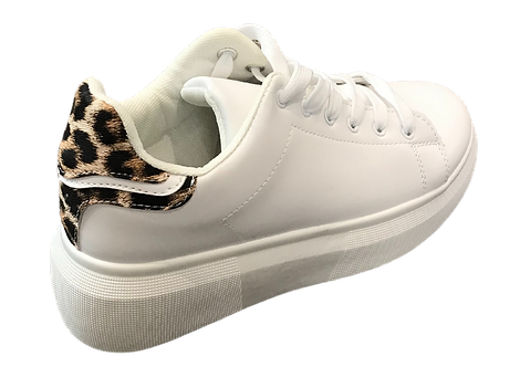 LS2793 - Leopard Print Trainer with Chunky Sole