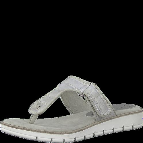 Marco Tozzi - 27101 - Light Grey, Croc Effect, Toe-Post Sandals