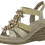 Thumbnail: Marco Tozzi - 28302 - Nude Wedge with Flower Embellished Front