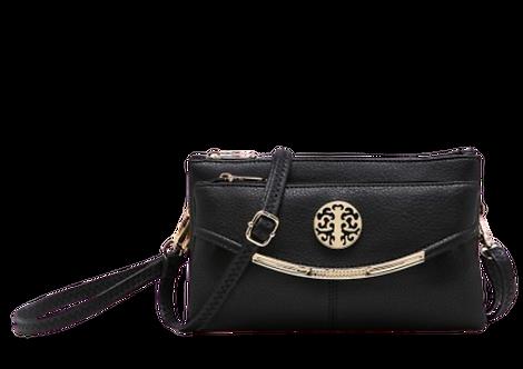 Z-1942 - Small Clutch / Crossbody Bag in Black