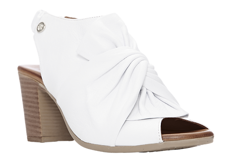 Moda in Pelle - Levella - White Leather Knotted Sandal