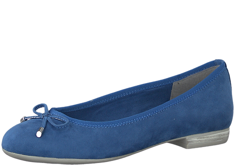 Marco Tozzi - 22120 - Blue Ballerina Pump With Bow Detail
