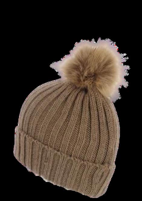 502 - Pom Pom Beanie Hat
