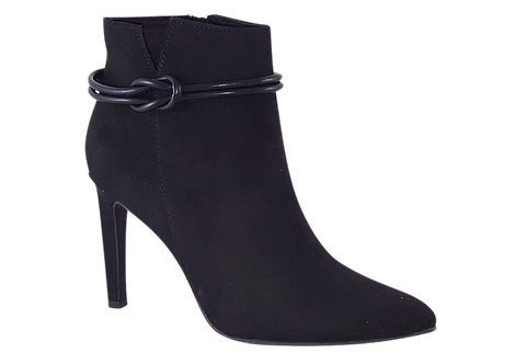 Marco Tozzi - 25064 - Black Stiletto Boot with Knot Detail