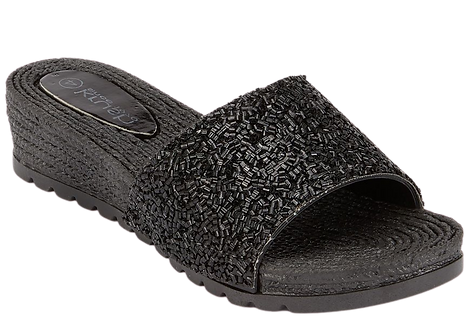 LS2878 - Glitter Mule - Black
