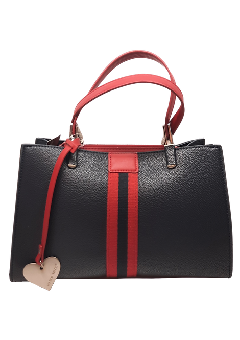 Marco Tozzi - 61026 - Navy / Red Handbag with Heart Attachment