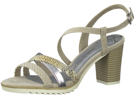 Marco Tozzi - 28712 - Block Heeled Sandal With Contrast Straps