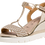 Thumbnail: Tamaris - 28315 - Light Gold Wedge With Rope Detail Front