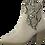 Thumbnail: Marco Tozzi - 25353 - Block Heel Cream Boot with Snakeskin Panel