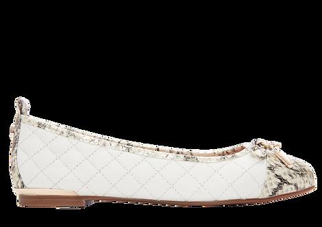 Moda in Pelle - Follo - Snakeskin Toe Ballerina Pump