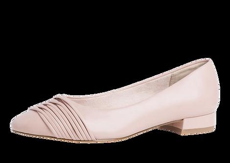 Tamaris - 22210 - Leather Slip On Shoe with Gathering Detail