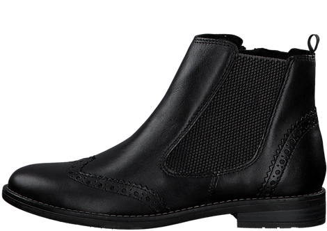 Marco Tozzi - 25365 - Black Leather Ankle Boot